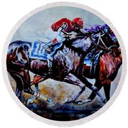 The Preakness Stakes Round Beach Towel