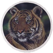 The Prince Of The Jungle Round Beach Towel
