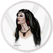 The Princess Morgana Round Beach Towel by James Christopher Hill