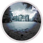 Round Beach Towel featuring the photograph The Priory  by Keith Elliott