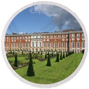 The Privy Garden Hampton Court Round Beach Towel