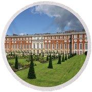 The Privy Garden Hampton Court Round Beach Towel
