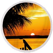 The Promise Round Beach Towel by Karen Wiles