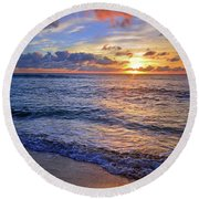 Round Beach Towel featuring the photograph The Promise Of A New Day by Tara Turner