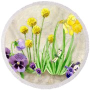 The Promise Of Spring - Dragonfly Round Beach Towel