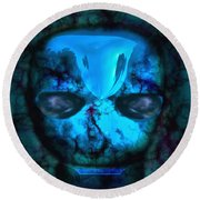 The Pukel Stone Face Round Beach Towel