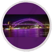 Round Beach Towel featuring the photograph The Purple Coathanger By Kaye Menner by Kaye Menner