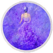 The Purple Prom Round Beach Towel