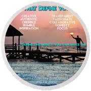 The Qualities That Define You As A Leader  Round Beach Towel