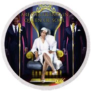 The Queen Of Soul Round Beach Towel