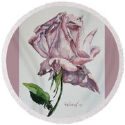 Queen Rose Round Beach Towel by Rita Fetisov