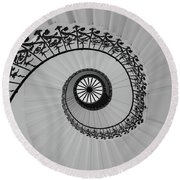 The Queens House Round Beach Towel