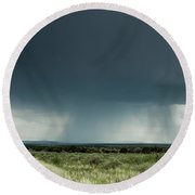 The Rain Storm Round Beach Towel