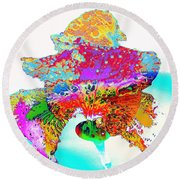 The Rainbow Iris Round Beach Towel