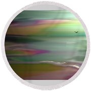 The Rainbow Pathway Round Beach Towel