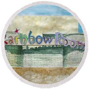 The Rainbow Room Round Beach Towel
