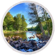 The Raquette River Round Beach Towel