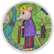 The Rat King Round Beach Towel