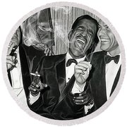 The Rat Pack Collection Round Beach Towel