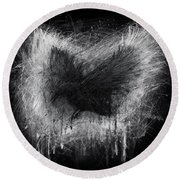 The Raven - Black Edition Round Beach Towel