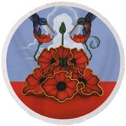 The Ravishers Round Beach Towel by Andrew Batcheller