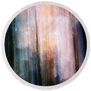 The Realm Of Light Round Beach Towel