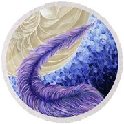 The Rebellous Feather Round Beach Towel