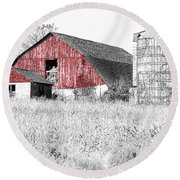 The Red Barn - Sketch 0004 Round Beach Towel