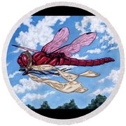 The Red Baron Round Beach Towel