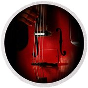 The Red Cello Round Beach Towel