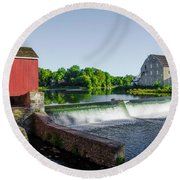 The Red Mill  On The Raritan River - Clinton New Jersey  Round Beach Towel by Bill Cannon