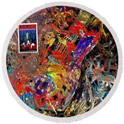 The Red Paintings Round Beach Towel