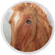 The Red Pony Round Beach Towel