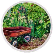 The Red Wagon Round Beach Towel