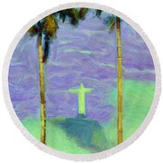 The Redeemer Round Beach Towel