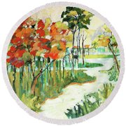 The Redlands2 Round Beach Towel