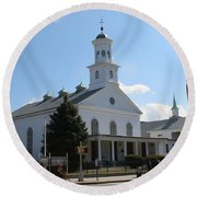 The Reformed Church Of Newtown- Round Beach Towel
