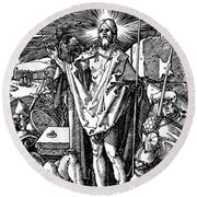 The Resurrection, From The Small Passion Round Beach Towel