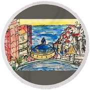 The Ridge View Cabo Round Beach Towel