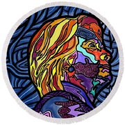 The Right Side Of Herstory Round Beach Towel