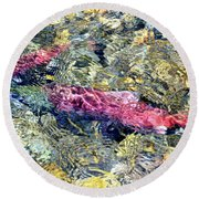 Round Beach Towel featuring the photograph The Ripple Effect by David Lawson