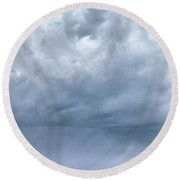 Round Beach Towel featuring the photograph The Rising Storm by Jouko Lehto