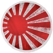 Round Beach Towel featuring the photograph The Rising Sun by JC Findley
