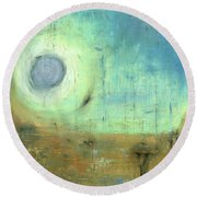 Round Beach Towel featuring the painting The Rising Sun by Michal Mitak Mahgerefteh