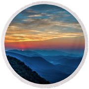 The Rising Sun Pretty Place Chapel Greenville S C Great Smoky Mountain Art Round Beach Towel