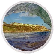 Round Beach Towel featuring the photograph The Ritz Fitz by Sean Foster