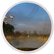 The River Bottoms Round Beach Towel