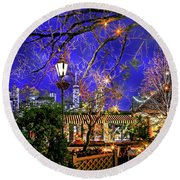 The River Cafe Round Beach Towel