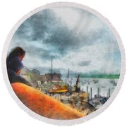 The River Exe Round Beach Towel
