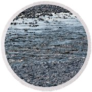 Round Beach Towel featuring the photograph The River Of Youth by Helga Novelli